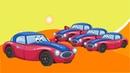 Мультики Про Цветные Машинки и Автовоз - Учим Цвета и Цифры - Для Детей