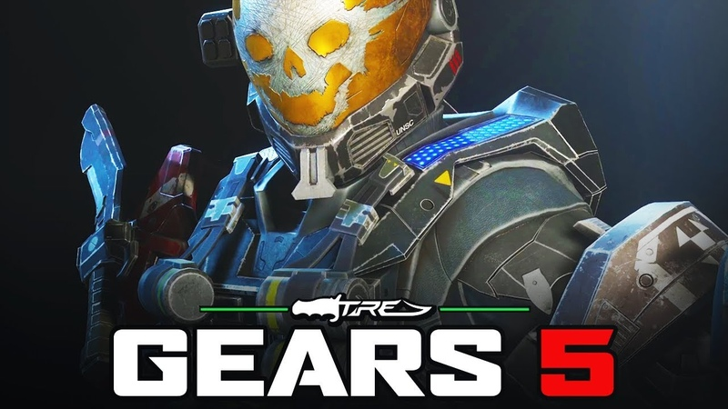 GEARS 5 Horde Mode Gameplay - 10 Minutes of EMILE-A239 Character Gameplay (Halo Reach Pack)