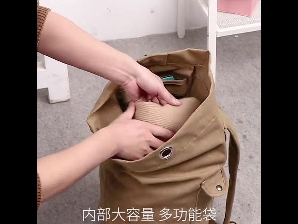 2019 модернизировать большой емкости альпинизм рюкзак путешествия холст ведро военный рюкзак