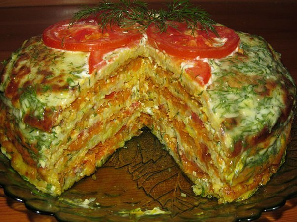 Готовим тортик из кабачков!