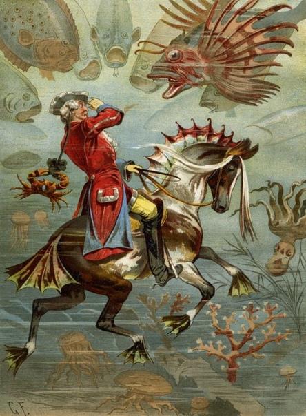 ПРО БАРОНА МЮНХАУЗЕНА Наверное, сложно найти человека, который не знал бы о легендарных приключениях литературного и киношного героя Барона Мюнхгаузена, отчаянного лгуна и авантюриста, летавшего