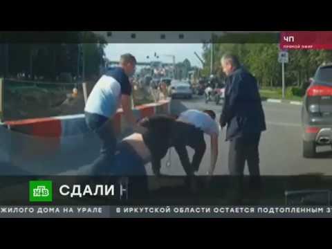 Драка водителей у аэропорта Шереметьево попала на видео