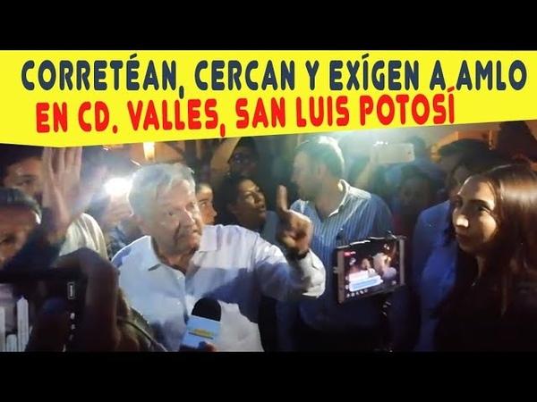 ¡GENTE AS NO! Le faltan el respeto a AMLO en San Luis Potos