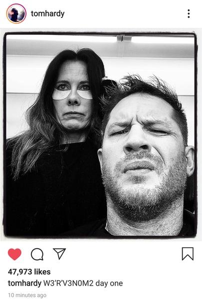 Том Харди подтвердил старт съемок второго «Венома»