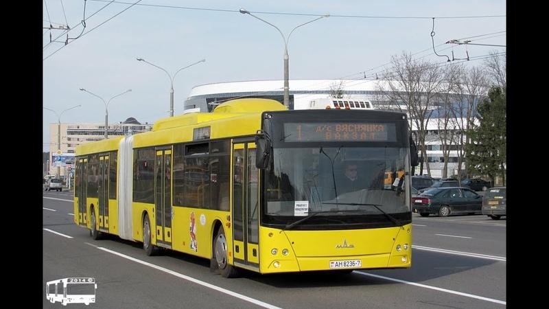 Автобус Минска МАЗ-215.169,гос.№ АН 8236-7, марш.1 (03.07.2018)