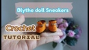 How to crochet doll sneakers doll shoes