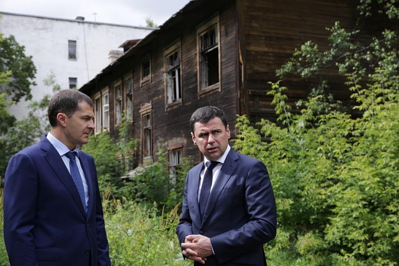 Губернатор Миронов обсудил с мэром Ярославля снос аварийных домов и благоустройство