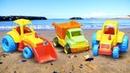 Juegos infantiles de arena Hacemos un castillo para niños Vehículos de servicio de juguete