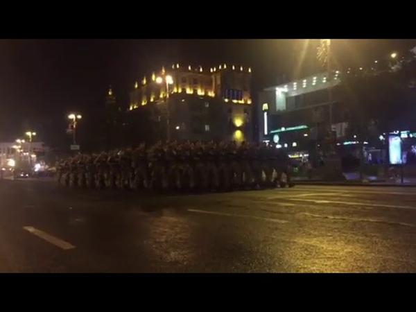 На Хрещатику повним ходом іде репетиція параду до Дня Незалежності України 🇺🇦