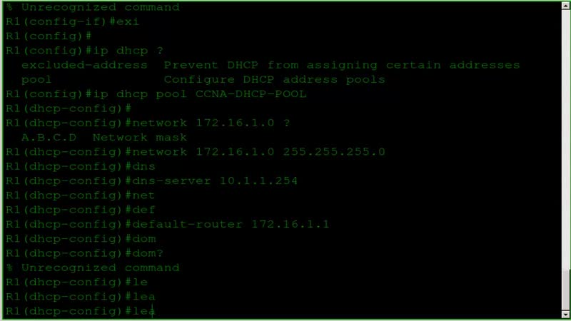 031 Lab 021 - Configuring IOS DHCP Server