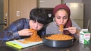 KOREAN FIRE NOODLE CHALLENGE ( X10 Packs ) 불닭 볶음면 10봉지 먹기
