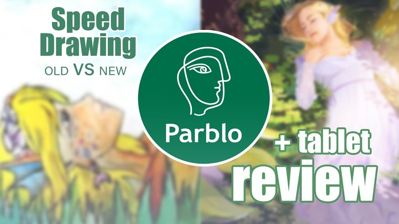 Speed Drawing Parblo Tablet Review (Back to School Season)