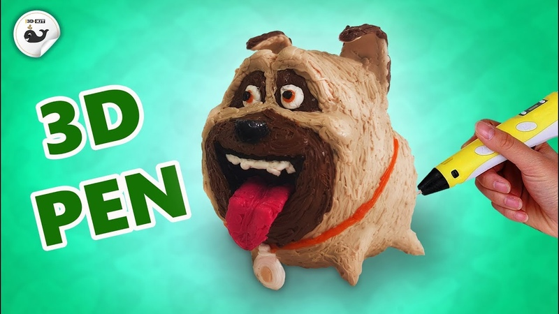 3D pen Pug Mel from The Secret Life Of Pets 2 How to draw pug Mel with a 3D pen
