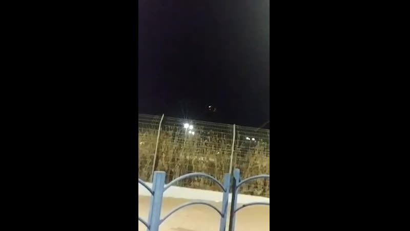 Над городом Сдерот система ПРО Израиля «Железный купол» перехватила палестинскую ракету, выпущенную из Сектора Газа.