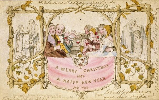 ИСТОРИЯ РОЖДЕСТВЕНСКОЙ ОТКРЫТКИ В XIX веке в России стали популярны так называемые открытые письма карточки с небольшими изображениями, на которые помещали добрые пожелания к праздникам,