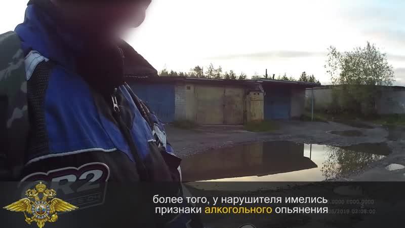 Водитель, управляющий мопедом в состоянии алкогольного опьянения город Оленегорск