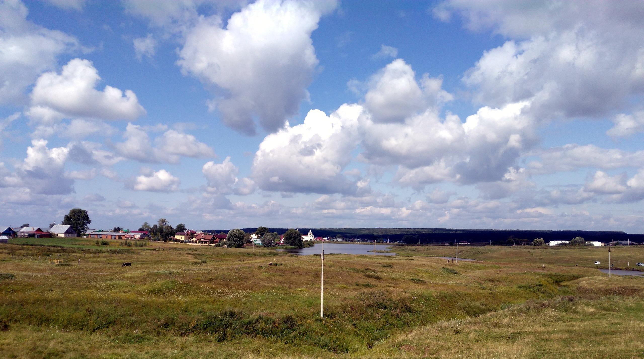 Вид с дороги на Пелёво.