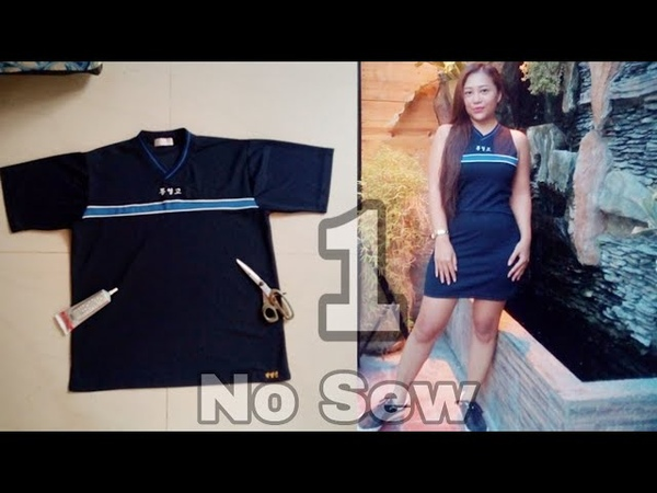 T Shirt Transformation Transform your T shirt into Bodycon Dress No Sew