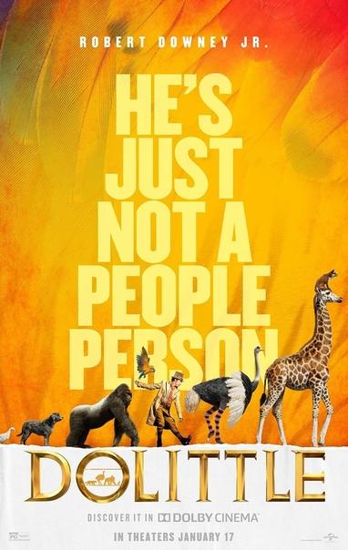 Новый постер «Удивительных приключений Доктора Дулиттла» с Робертом Дауни-младшим