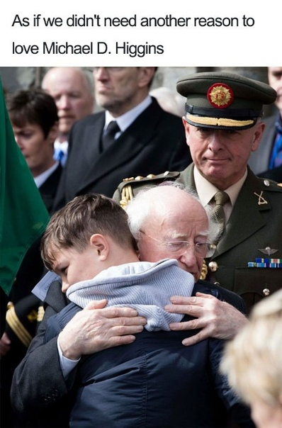 10 фотографий президента Ирландии, которые доказывают, что он самый душевный глава государства в мире