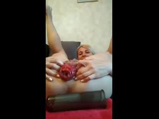 Sindy rose [фистинг, анал, fisting, extreme insertion, gape, anal, big toys, brutal dildo, prolapse, домашнее порно]