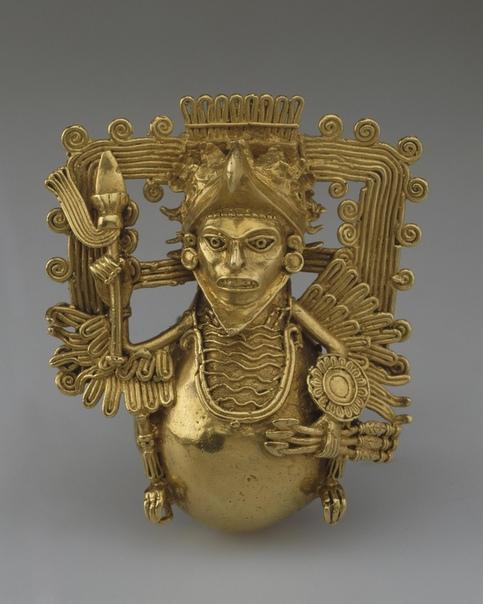Бубенец в виде воина-орла. Ацтеки. Происхождение неизвестно.