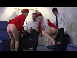 Indecent flight attendants [2019, feature, airplane & flight attendant, foreign,threesomes, anal, lingerie, hd 720p]