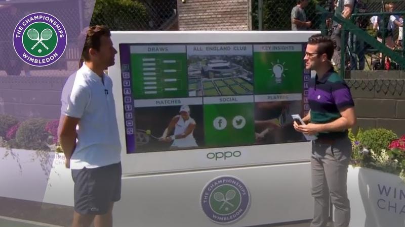Analysis Corner with Wim Fissette at Wimbledon 2019