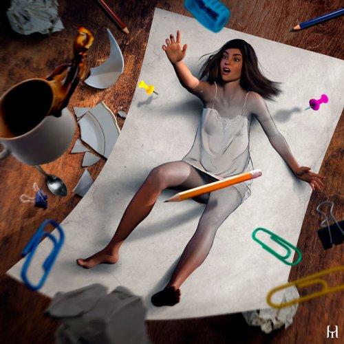 Оживающие цифровые картины Туллиуса Хейера