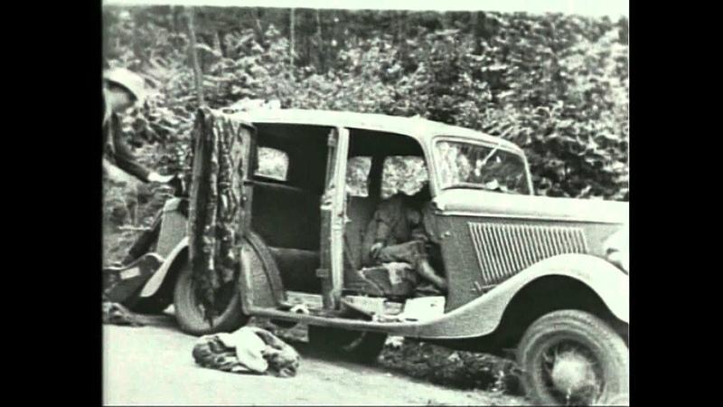 Bonnie and Clyde ambush re enactment