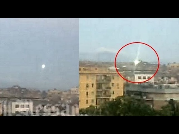 Spectacular UFO sighting in Rome Italy