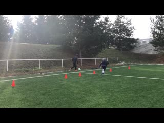 Football fun warm up for kids with game 1 on 1 pp academy 02