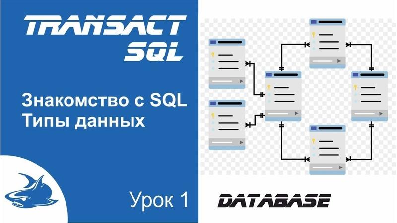 Видео курс Transact-SQL. Урок 1. Знакомство с SQL. Типы данных