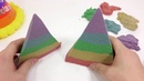 Kinetic Sand Rainbow Cone Learn colors with kinetic sand
