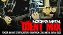 Modern Metal - Djent Mix || Fender Jim Root Stratocaster Toontrack EZmix Metal Guitar Gods