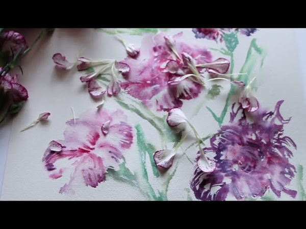Carnation Flower Painting Step by Step Tutorial Wet to Wet Technique