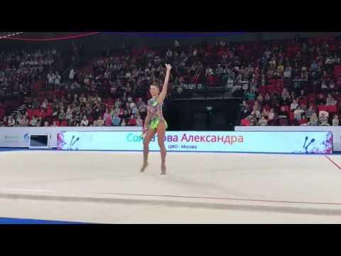 Александра Солдатова булавы финал многоборья Чемпионат России Москва 2019