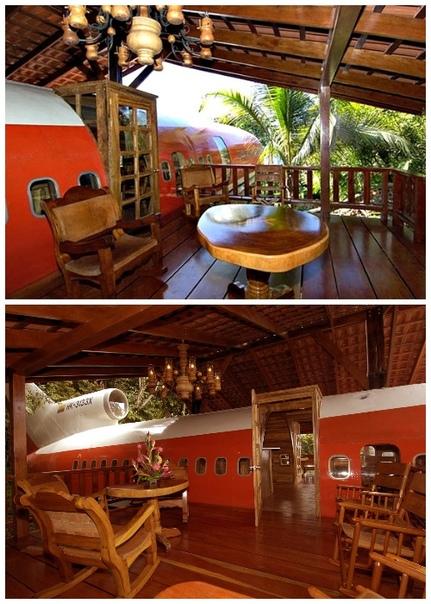 Самолет-гостиница в сердце джунглей Коста-Рики