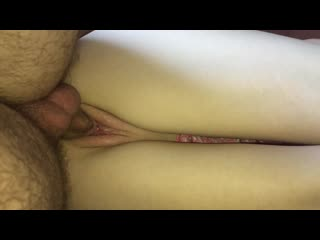 Slow gentle fuck on the side with dripping creampie, so cute