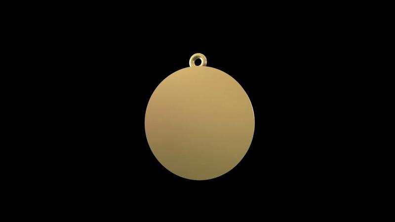 Pendant coin Divine Father Augustus. 3d model jewelry pendant.