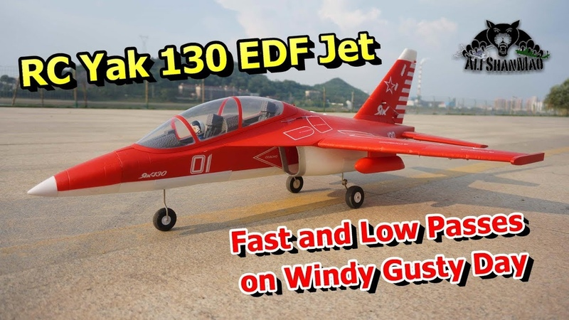 Yak 130 EDF RC Jet Fast Low Passes on Gusty Windy Day