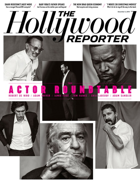 Роберт Де Ниро, Том Хэнкс, Джейми Фокс, Адам Драйвер, Шайя ЛаБаф и Адам Сэндлер в объективе свежего номера The Hollywood Reporter Миллер