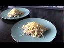 Паста с беконом и грибами Быстрый вкусный и простой рецепт для ужина