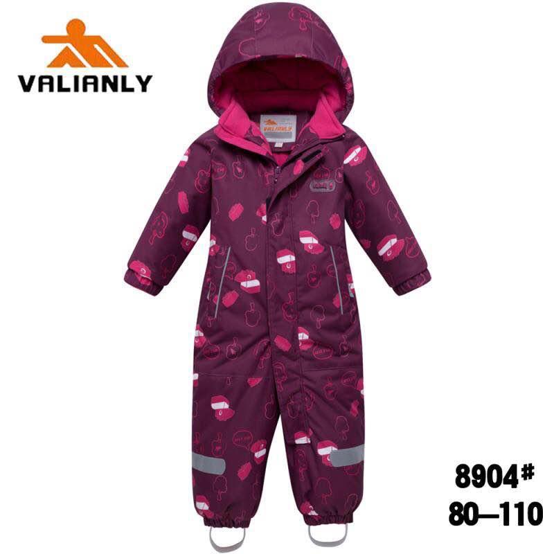 Зимний комбинезон Valianly 8904 вишневый
