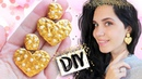 GOLD Earrings with Pearly Beads ● Stylish DIY ●