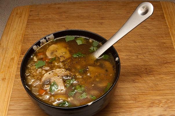 Готовим дома. Постный суп с гречкой.