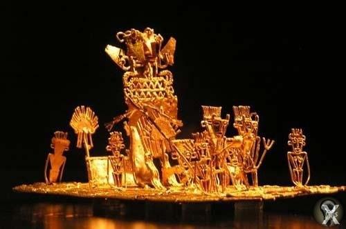 На пути к Эльдорадо Есть примета: видеть во сне золото - к несчастью. В ее справедливости испанец Гонсало Хименес де Кесада убедился лично: он вспоминал, что перед походом на поиски несметных