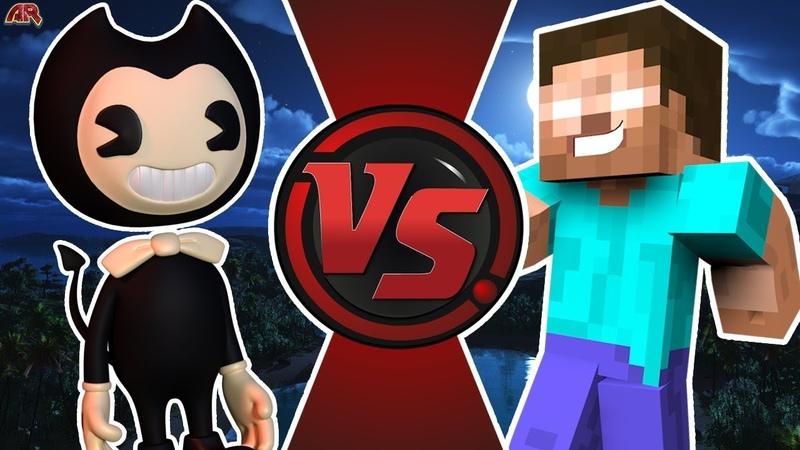 BENDY vs HEROBRINE Bendy and The Ink Machine vs Minecraft Cartoon Fight Club Bonus Explanation