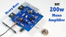 200w Heavy Bass Mono Amplifier Circuit For Subwoofer JLCPCB