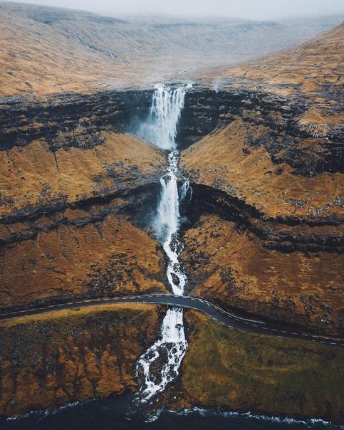 Водопад Фосса, Фарерские острова, Дания
